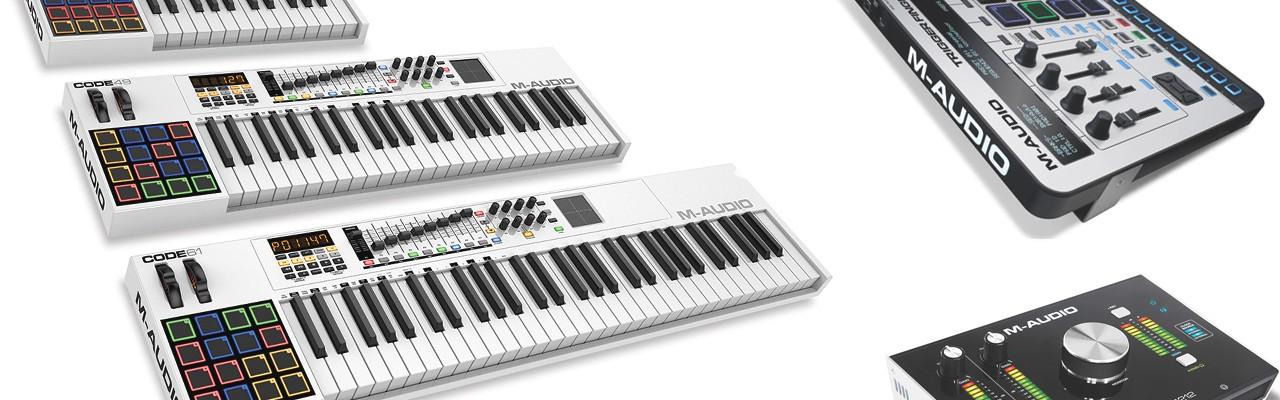 M-Audio 2015 NAMM Keyboard Mixer Speaker USB MIDI Audio Wetter Dschungel Pegida Oxygen Trigger Finger