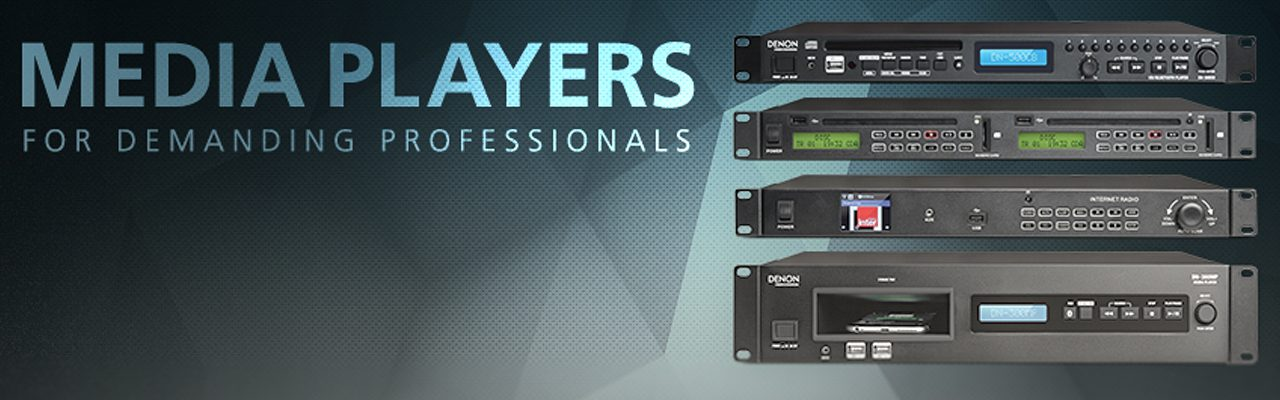 Denon Professional video audio player sd card usb media av receiver studio monitor mixer player